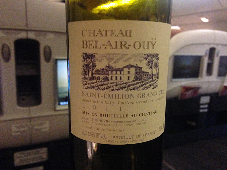 Chateau Bel Air - eleito o melhor vinho tinto de bordo do mundo em Classe Executiva