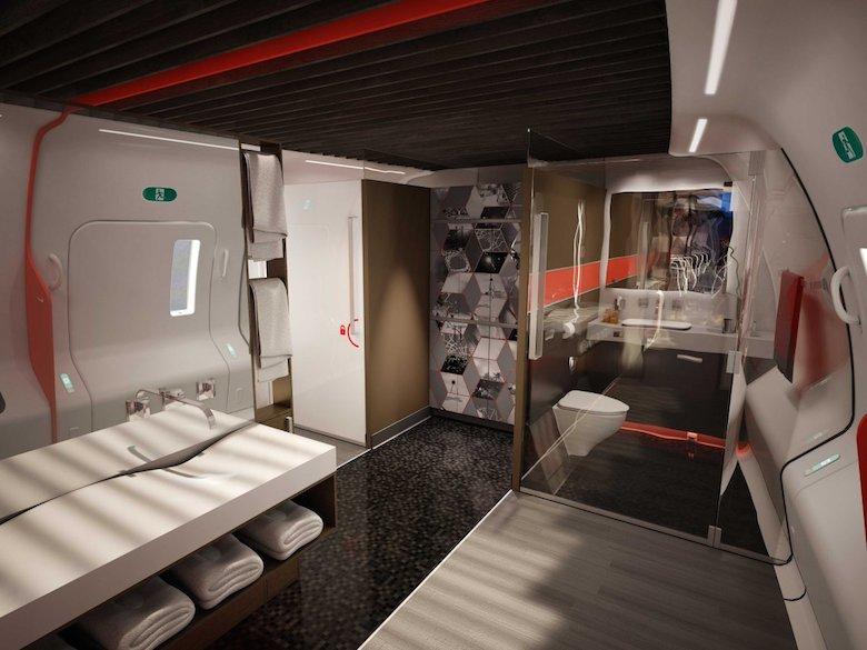 Banheiros mais espaçosos e com superdesign
