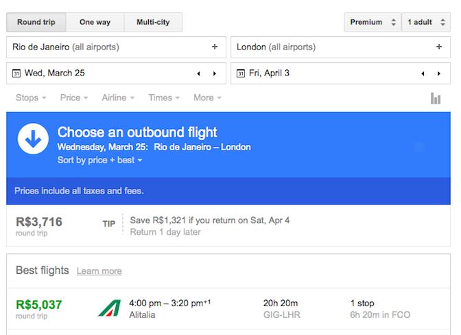 TIP - Confira o quanto você economizaria viajando em outra data.