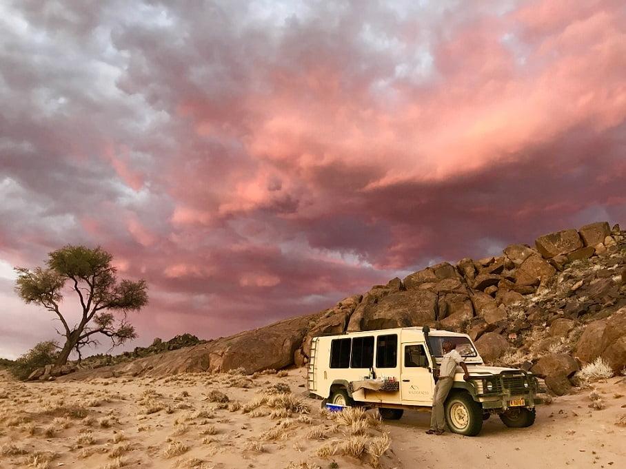 Por do sol na região de Sossusvlei (Viagem fotográfica pela Namíbia por Carioca NoMundo)