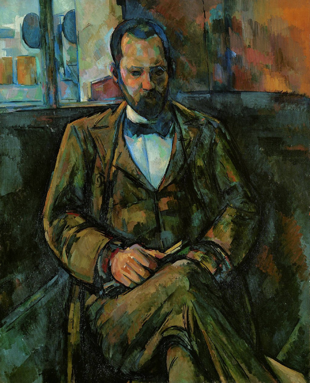 O marchand de Cézanne, Ambroise Vollard, pintado em 1899, na exposição Cézanne Portraits, em Londres