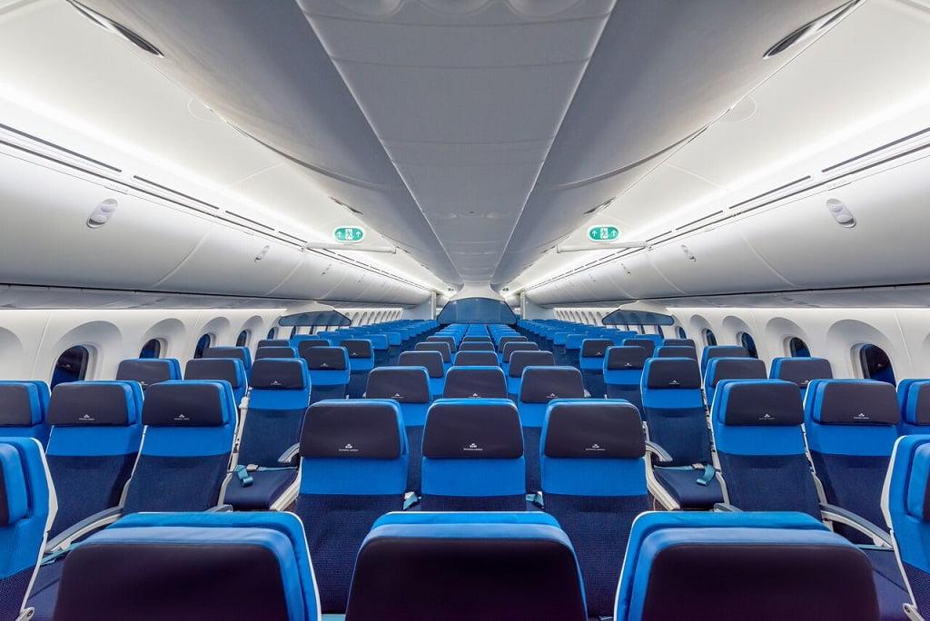 As poltronas com mais espaço para as pernas da Economy Comfort da KLM