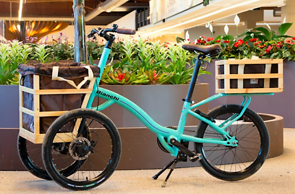 A bicicleta que os clientes podem usar gratuitamente para circular pelo Eataly World