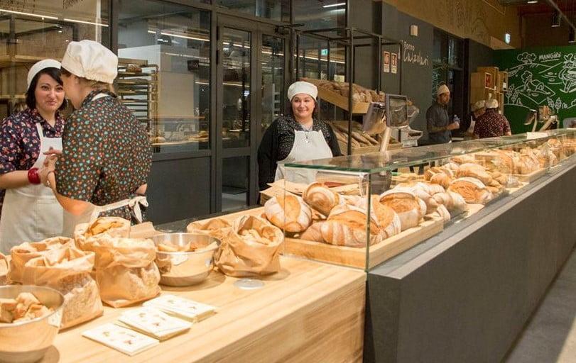 Uma das padarias do Eataly World, em Bolonha, o parque temático da gastronomia italiana