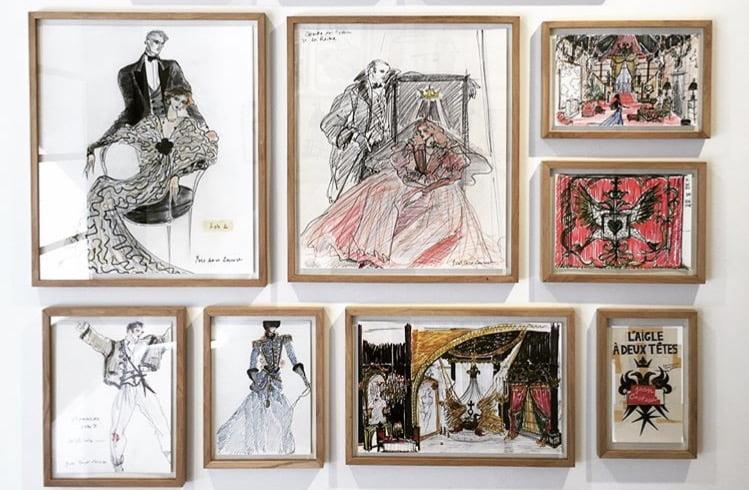 Itens do acervo do Museu Yves Saint Laurent, em Marrakech, Marrocos