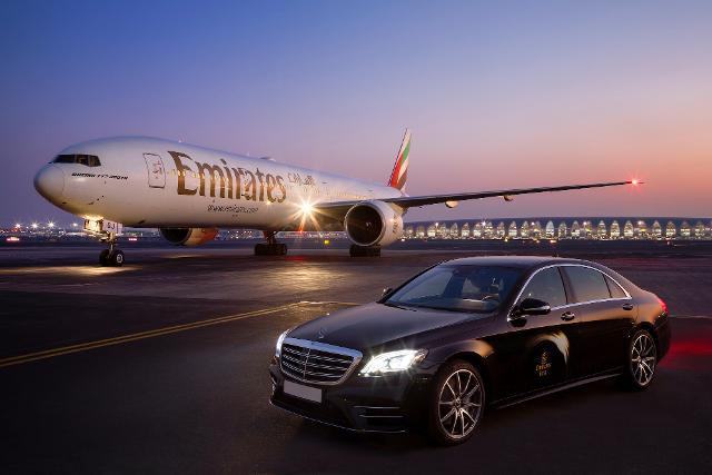Quem viaja na nova primeira classe da Emirates tem direito a transfer exclusivo de Mercedes-Benz
