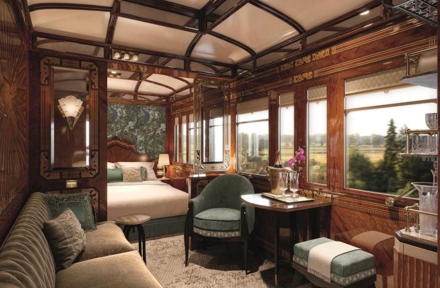 Viagem no trem de luxo Orient-Express: como será a suíte Paris
