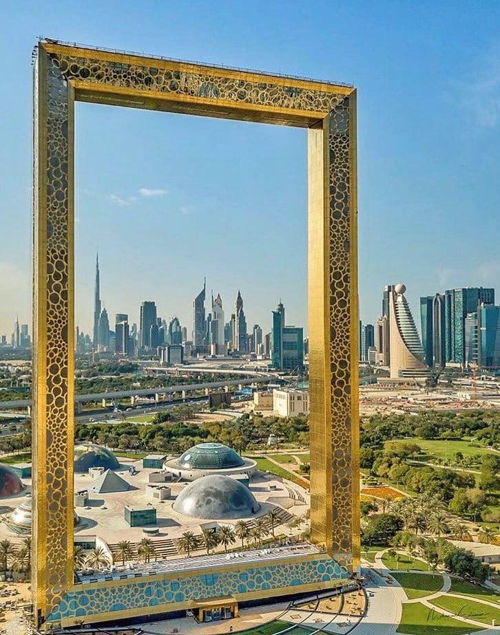 The Dubai Frame, em Dubai, nos Emirados Árabes Unidos