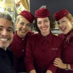 Classe executiva Magnífica da Alitalia