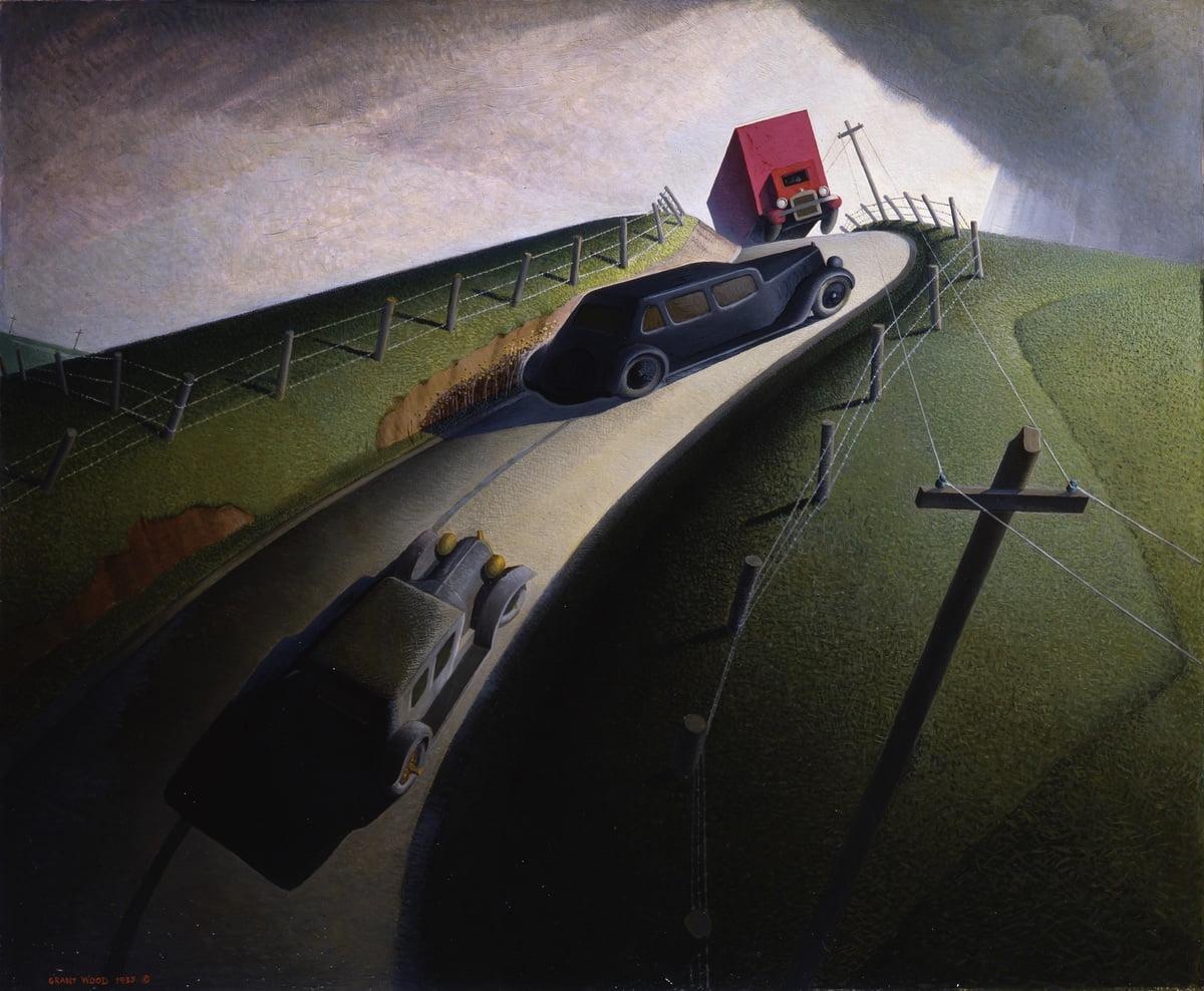 A retrospectiva do pintor Grant Wood no Whitney Museum