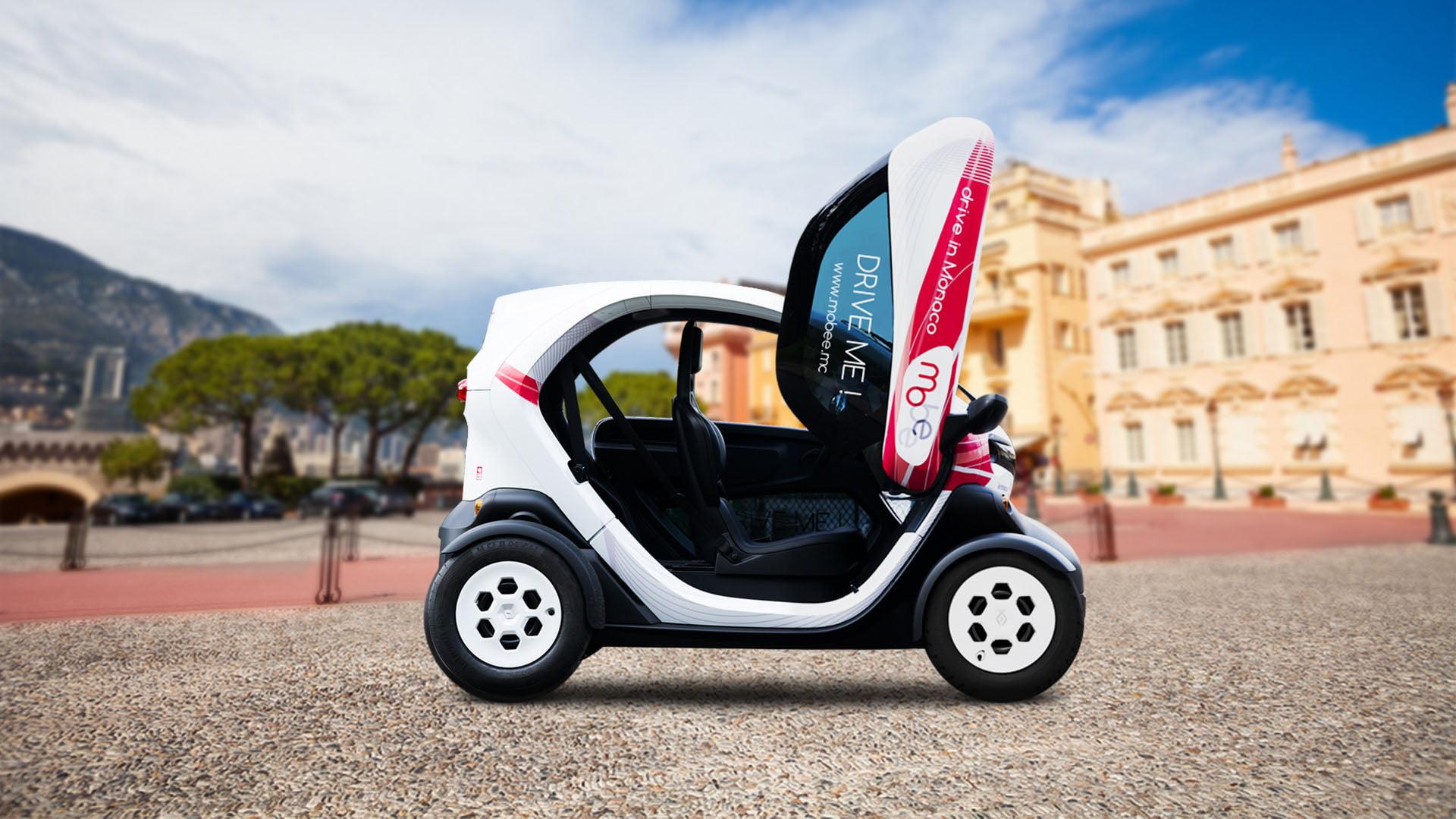 Carro elétrico para aluguel Mobee em Mônaco