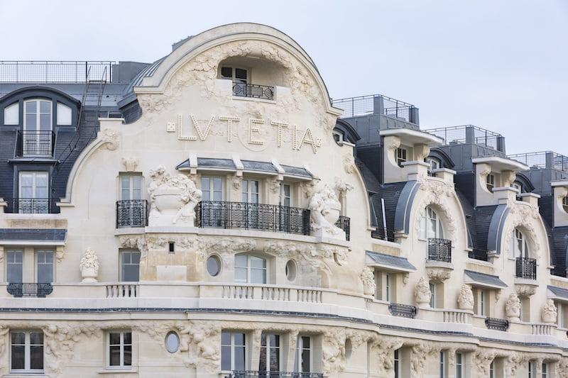 A fachada do Hotel Lutetia em Paris