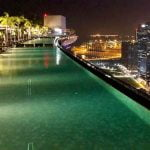 A piscina mais famosa do mundo no hotel Marina Bay Sands, em Cingapura