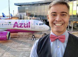 A emoção de voar no A320neo rosa da Azul, um avião zero KM!