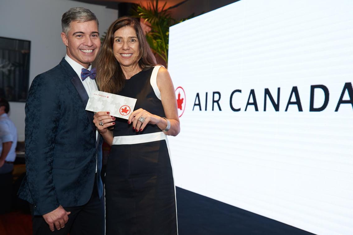 Jayme Drummond, o Carioca NoMundo, e Maysa Torres, da Air Canada