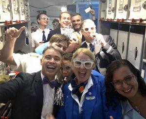Passei o Ano Novo voando no B787-9 da KLM