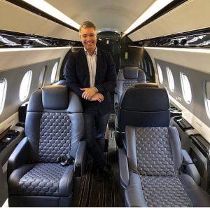 O jato Praetor 600 da Embraer custa 21 milhões de dólares