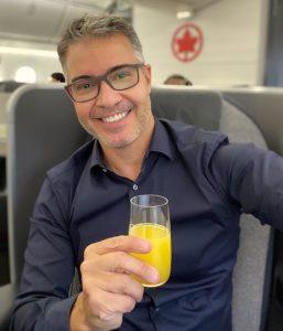 A classe executiva da Air Canada