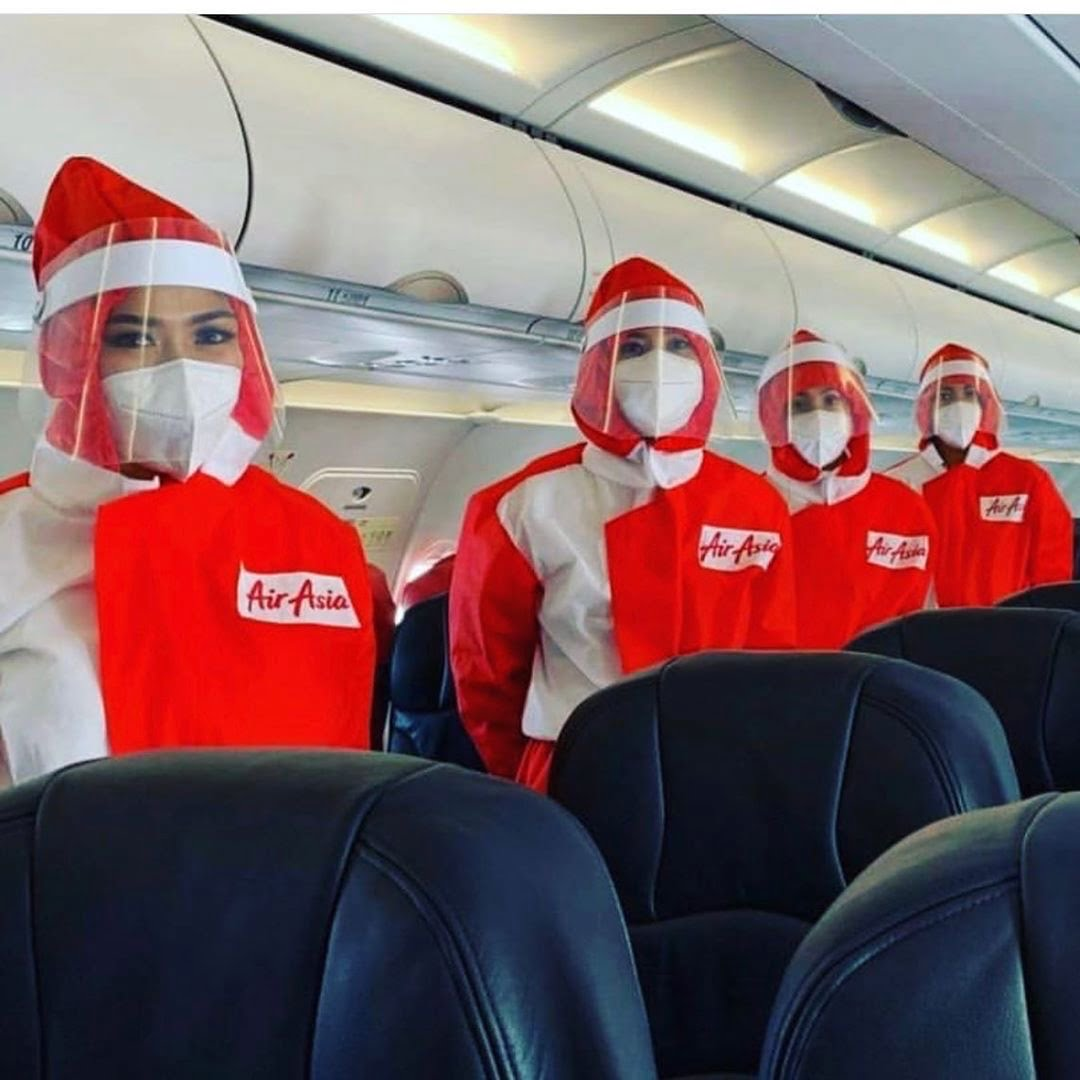 Novos uniformes da AirAsia e o futuro da aviação
