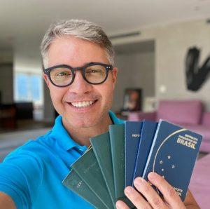 Um tour pelos selos e carimbos do meu passaporte